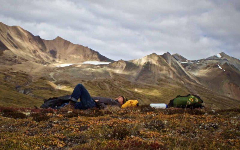 camping in Yukon, Canada